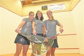 Das SRCV-Trio: Nicole Betchem, Julia Schmalz und Nicole Eisler (von links).?(Foto: MZ)