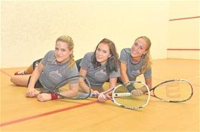 Das SRCV-Trio in der vergangenen Saison: Nicole Betchem, Julia Schmalz und Nicole Eisler (von links).?(Fotos: Nils Vollmar)