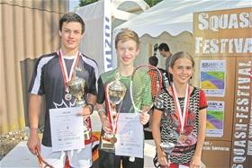 Die Medaillengewinner an der Schweizer Meisterschaft: Luca und Yannick Wilhelmi sowie Yaelle Sulser (von links).?(Foto: ZVG)