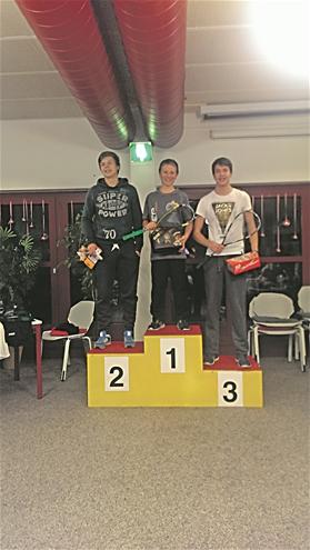 David Maier (Mitte) gewann am Seuzicup das B-Tableau.?(Foto: ZVG)