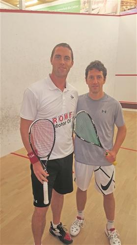 SRC-Vaduz-Spieler Marcel Rothmund (rechts) mit dem zweifachen Weltmeister David Palmer von BW Worms.?(Foto: ZVG)