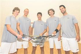 Das starke SRCV-Quintett: Patrick Maier, Roger Baumann, Marcel Rothmund, Spielertrainer Davide Bianchetti und Michel Haug (von links).?(Foto: Michael Zanghellini)