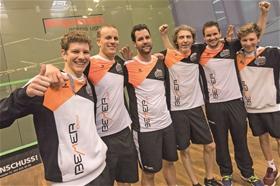 Mit Rang drei das Beste herausgeholt: Patrick Maier, Roger Baumann, Michel Haug, Davide Bianchetti, Jens Schoor und David Maier (von links).?(Foto: Stefan Kleiser)