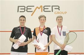 Sieger David Maier (Mitte) dominierte die U17-Kategorie.?(Foto: ZVG)